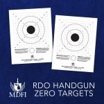 RDO Handgun Zero Targets